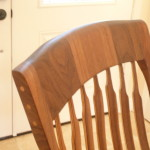 Black walnut coopered headrest